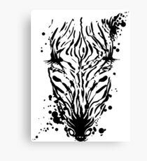Zebra Ink Canvas Print