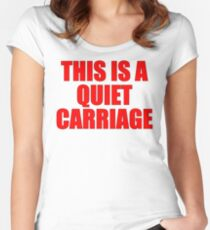 Quiet Carriage Women's Fitted Scoop T-Shirt