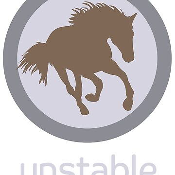 Lilac/Grey Unstable Horse by UnstableDesign