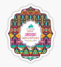 Native american seamless tribal pattern with geometric elements Sticker