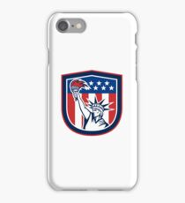 Statue of Liberty Holding Flaming Torch Shield iPhone Case/Skin