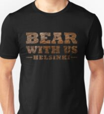Bear With Us Helsinki Hairy Logo Slim Fit T-Shirt