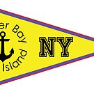 OYSTER BAY LONG ISLAND NEW YORK ANCHOR NAUTICAL FLAG PENNANT by MyHandmadeSigns