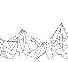 Night Court Mountains  Sticker