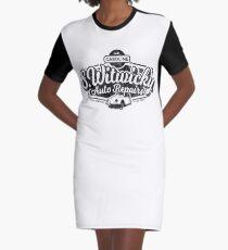 Witwicky's Auto Garage (black design) Graphic T-Shirt Dress