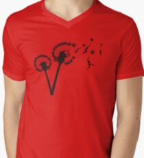 Dandylion Flight Men's V-Neck T-Shirt