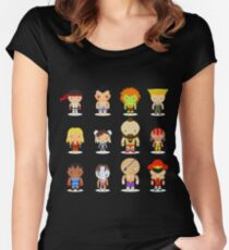 Street fighter - the world warrior Women's Fitted Scoop T-Shirt