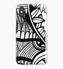 abstract ink design iPhone Case