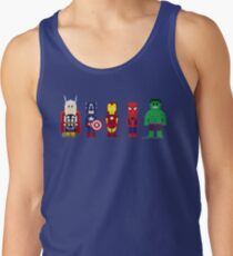 8-Bit Super Heroes! Tank Top