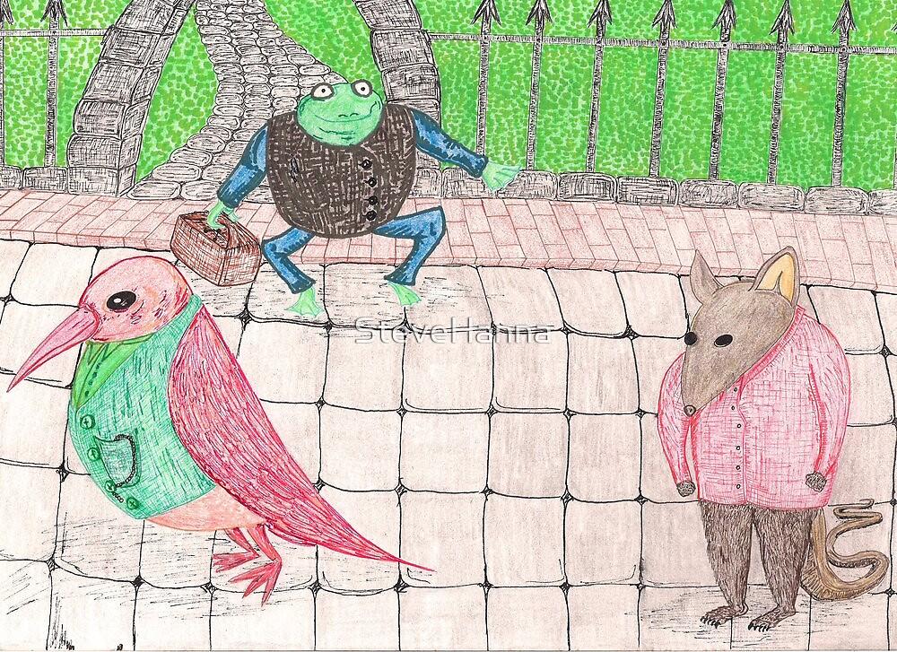 Bird, Frog, Mouse by SteveHanna