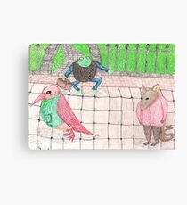 Bird, Frog, Mouse Canvas Print