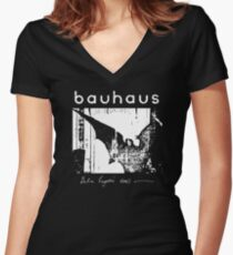 Bauhaus - Bat Wings - Bela Lugosi's Dead Women's Fitted V-Neck T-Shirt
