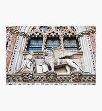Lion of St Mark. Photographic Print