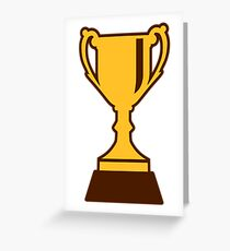 Cup trophy winner champion Greeting Card