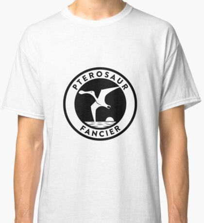 Pterosaur Fancier Tee (Black on Light) Classic T-Shirt