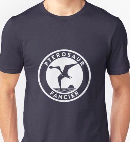 Pterosaur Fancier Tee (White on Dark) T-Shirt
