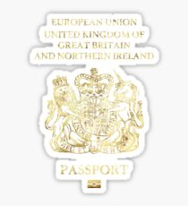 United Kingdom Passport Vintage Sticker