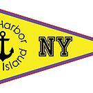 SAG HARBOR LONG ISLAND NEW YORK ANCHOR NAUTICAL SAILING FLAG PENNANT by MyHandmadeSigns