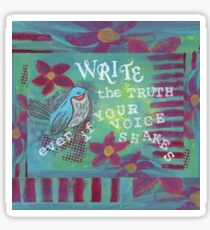 Write the Truth  Sticker