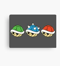 Mario Kart Items- Shells Canvas Print