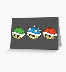 Mario Kart Items- Shells Greeting Card