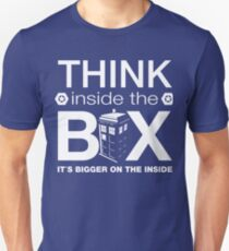 Think Inside The Box, Witty Dr Who Quote T-Shirt