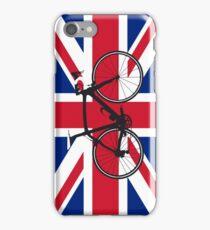 Bike Flag United Kingdom (Big - Highlight) iPhone Case/Skin