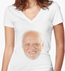 Hide the Pain Harold Women's Fitted V-Neck T-Shirt