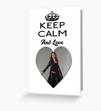 Buffy Faith Eliza Dushku Dollhouse  Greeting Card