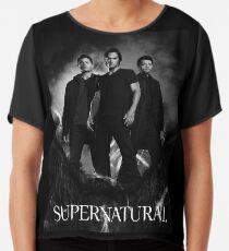 supernatural black and white Chiffon Top