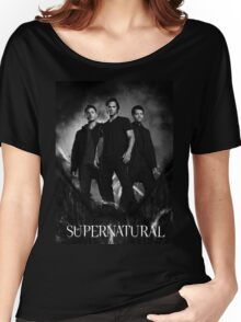 supernatural black and white Women's Relaxed Fit T-Shirt
