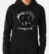 supernatural black and white Pullover Hoodie