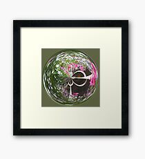 Spherical flower basket Framed Print