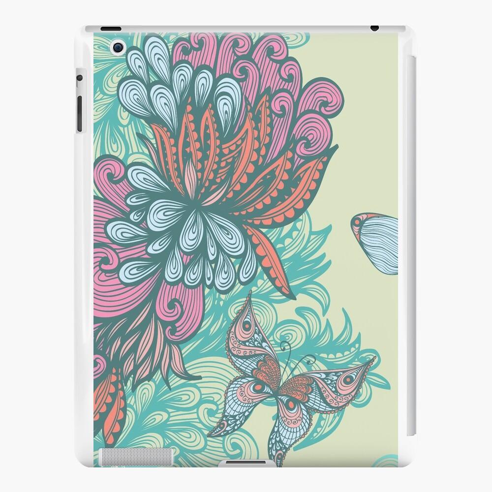Mariposa y rosa Vinilos y fundas para iPad