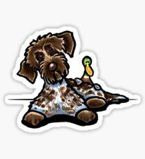 Wirehaired Pointing Griffon & Duck Sticker