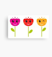 Cute colorful tulips - SPRING Designs Canvas Print