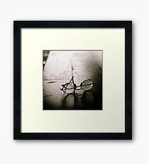 light in glasses Framed Print