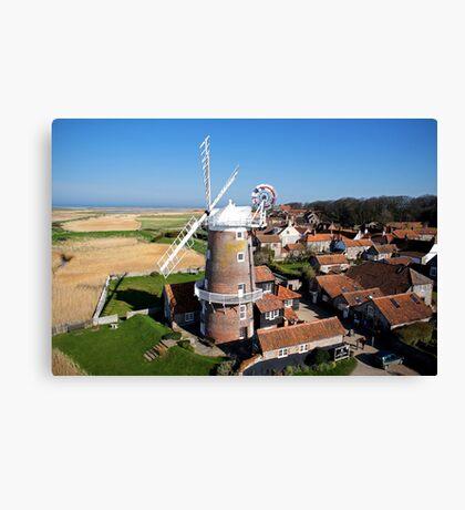 Cley Windmill - Unusual Aeriel shot Canvas Print