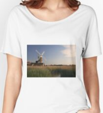 Cley Windmill - Unusual Aeriel shot Women's Relaxed Fit T-Shirt