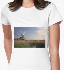 Cley Windmill - Unusual Aeriel shot Women's Fitted T-Shirt