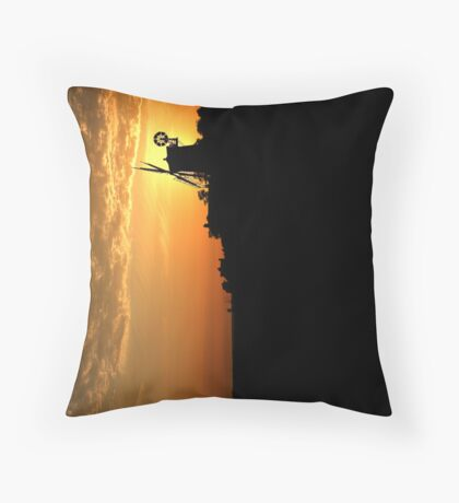 Cley Windmill - Unusual Aeriel shot Throw Pillow
