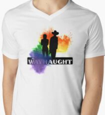 Wayhaught - Rainbow Splash Men's V-Neck T-Shirt