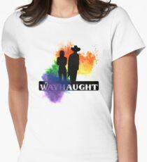 Wayhaught - Rainbow Splash Women's Fitted T-Shirt