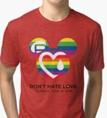Support for the victims of the horrific shooting at Orlando's Pulse Nightclub.  Tri-blend T-Shirt