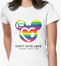 Support for the victims of the horrific shooting at Orlando's Pulse Nightclub.  Women's Fitted T-Shirt