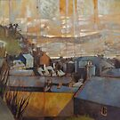 Rooftops of Barmouth by Bernard Barnes