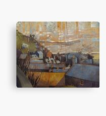 Rooftops of Barmouth Canvas Print