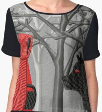 Red Riding Hood Meets the Wolf Women's Chiffon Top