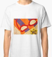 Beach Towel with Glasses, Seashell, and Starfish Classic T-Shirt