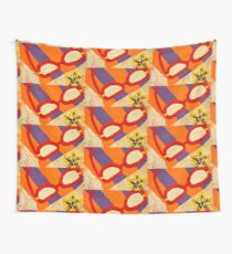 Beach Towel with Glasses, Seashell, and Starfish Wall Tapestry